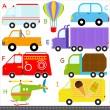 auto, voertuigen, transport — Stockvector