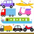 Car, Vehicles, Transportation — Stock Vector