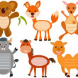Stock Vector: Set of Cute Animal Icons