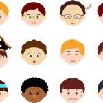 Icons: Heads of Boys, Men, Kids — Stock Vector #28967063