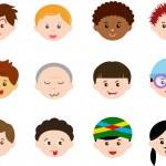 Icons: Heads of Boys, Men, Kids — Stock Vector #28967083