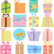 Gift Boxes (present) — Stock Vector