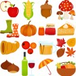 Icons : Autumn, Fall Theme — Imagen vectorial