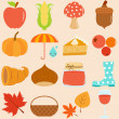 Icons : Autumn, Fall Theme — Stockvectorbeeld