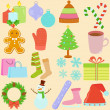 Stock Vector: Icons : Winter, Christmas Theme