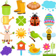 Icons : Spring Season Theme — Stock Vector #28968617