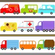 Van, Truck Vehicles, Freight Transportation — Stock Vector