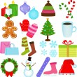 Icons : Winter, Christmas Theme — Stock Vector