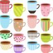 Collection of Cup and Mug — Stock Vector