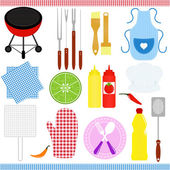 Icons : set of Barbecue, Grill (BBQ) theme — Stock Vector