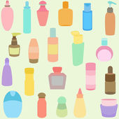 Bottle, perfume, glass, containers in Pastel color — Stock Vector