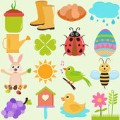 Icons : Spring Season Theme — Stock Vector