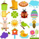 Icons : Spring Season Theme — Stock Vector