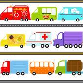 Van, Truck Vehicles, Freight Transportation — Stock Vector