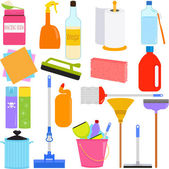 Domestic housework Tools for Washing — Stock Vector