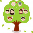 Family Tree, A diagram on a genealogical tree — Stock Vector