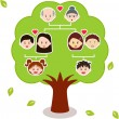 Family Tree, A diagram on a genealogical tree — Stock Vector #28972661
