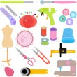 Sewing Tools and Handicraft accessories — Stock Vector #28972893