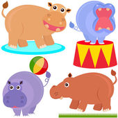 Animal Vector Icons : hippopotamus (hippo) — Stock Vector