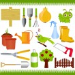 Vector Icons : Gardening, and garden tools ,  equipments — Stock Vector