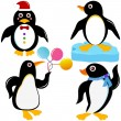 Animal Vector Icons : Seabird - Penguin — Stock Vector