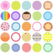 A Cute Collection of Vector Labels ,  Cards ,  Tags pastel colors — Stock Vector