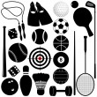 Sports Set: Balls, other exercise equipments — Stock Vector #28986639