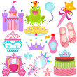 Stock Vector: Vector Icons : Sweet Princess Set