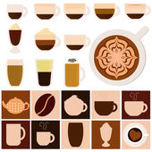 Hot Beverages - Coffee, Tea, Chocolate — Stock Vector