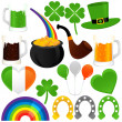 Saint Patrick's Day, cold beer — Stock Vector
