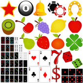 Casino and Gambling isolated on white — Stock Vector