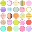 A Cute Collection of Vector Labels , Cards , Tags pastel colors — Stock Vector #29007279
