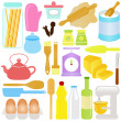 Cute Vector Icons : Cooking, Baking Theme, isolated on white — Stock Vector