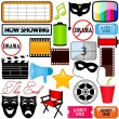 Vector de stock : Drama, Entertainment, Film, movie