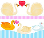Ducks, Goose, Swan — Stock Vector