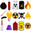 Dangerous Poison, Explosive, Chemical, Pollution — Imagen vectorial