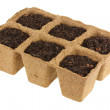Stock Photo: Eco Friendly and Biodegradable Plant Pots for growing seeds
