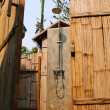 Stock Photo: Tropical Outdoor Rain Shower inside the room made by bamboo