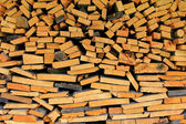 Een stapel van multifunctionele hout — Stockfoto