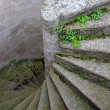 Stock Photo: Old and Winding Concrete Stairs