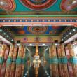 Stock Photo: Inside Main Prayer Hall at Sri MahamariammIndiTemple