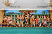 スリ マハマリアマン インド寺院でヒンドゥー教の神々 — ストック写真