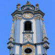 Stock Photo: Blue bell tower at Durnstein Abbey (Stift Durnstein)