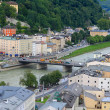 The State Bridge (Staatsbrucke) over Salzach river in Salzburg — Stock Photo