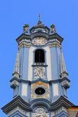 A blue bell tower at Durnstein Abbey (Stift Durnstein) — Stock Photo