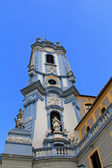 A blue bell tower at Durnstein Abbey (Stift Durnstein) — Stock Photo
