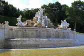 Neptune Fountain at Schloss Schoenbrunn Palace — Stock Photo