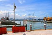The Malaysia s first inner city marina — Stock Photo