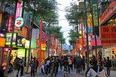Ximending street market in Taipei, Taiwan — Stock Photo