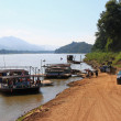 Local ferry in Luang Prabang, Laos — Stock Photo